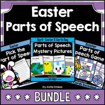 Easter Parts of Speech BUNDLE