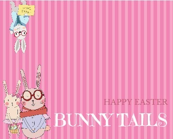 Easter Party Bag Toppers BUNNY TAILS