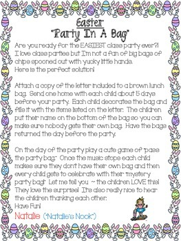 "Easter ""Party In A  Bag"""