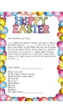 Easter Party Letter