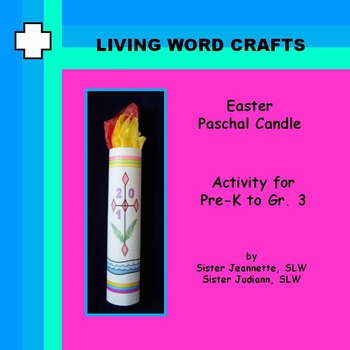 Easter Paschal Candle 3D for Pre-k to Gr.3