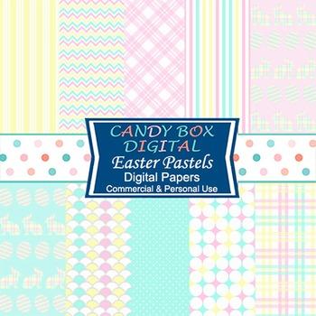 Easter Pastels Digital Background Papers