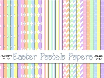 Easter Pastels Digital Papers