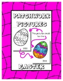 Easter - Patchwork Pictures - 16 Picture with Word Coloring Pages
