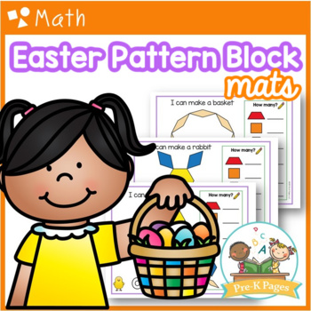 Easter Pattern Block Mats Preschool / Pre-K