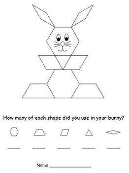 easter pattern block puzzles bunny and easter egg by d conway tpt. Black Bedroom Furniture Sets. Home Design Ideas