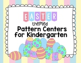Easter Pattern Center Cards for Kindergarten