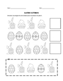 Easter Pattern Cut-out & Coloring Craft Worksheet