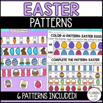 Easter Patterns Worksheet (Cut-Paste-Color)