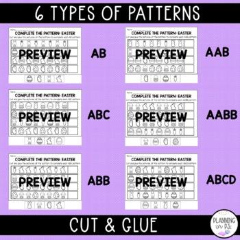 Easter Patterns Worksheet (Cut-Paste-Color)