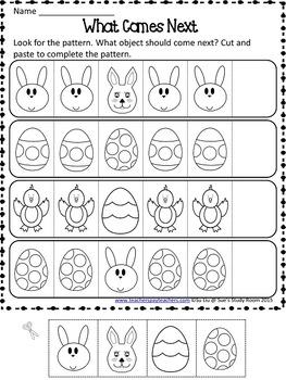 Easter Patterns Worksheets