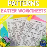 Easter Patterns Worksheets AB AAB ABB ABC Patterns