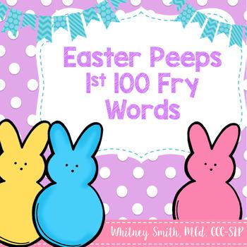 Easter Peep 100 Fry Words FREEBIE