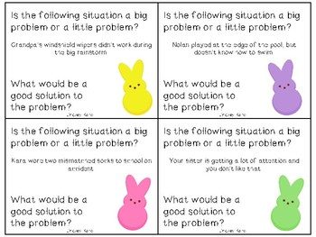 Easter Peep Big Problems, Little Problems: A Social Skills Activity
