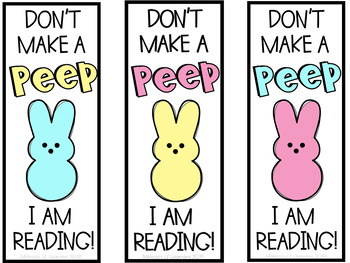 Easter Peep Bookmarks