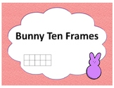 Easter Bunny Peeps Ten Frames for Spring