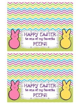 Easter Peeps Treat Bag Topper