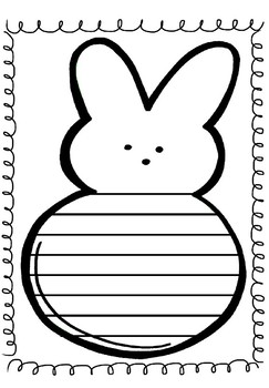 Easter Peep Writing Template