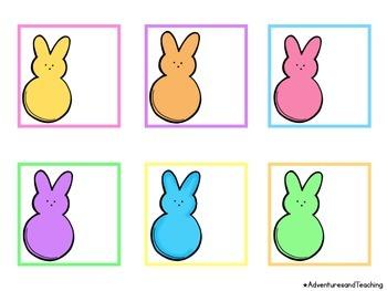 Easter Peeps Calendar Numbers