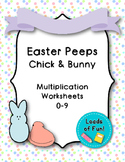 Easter Peeps - Chicks/Bunnies: Math Multiplication Facts W