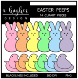 Easter Marshmallows Clipart {A Hughes Design}