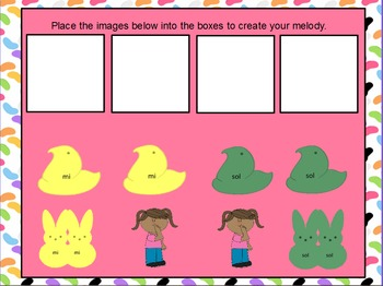 Easter Peeps--Interactive Melodic Composition PowerPoint edition {sol mi}