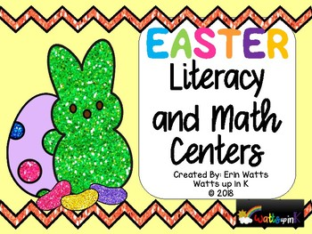 Easter Peeps Literacy and Math Centers