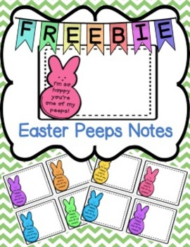 Easter Peeps Notes Freebie