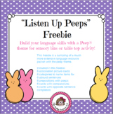 """Easter Freebie """"Peeps"""" Receptive and Expressive Language Activities"""