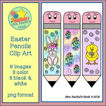 Easter Pencils Clip Art Freebie