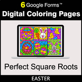 Easter: Perfect Square Roots - Google Forms   Digital Colo