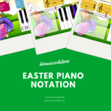 Easter Piano Notation (Treble Clef) Interactive Activities