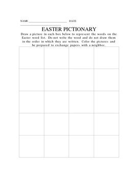 Easter Pictionary