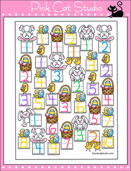 Easter Activities Count and Graph