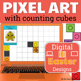 Easter Pixel Art with Counting Cubes