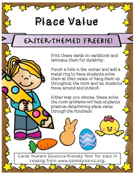 Easter Place Value Scoot Freebie