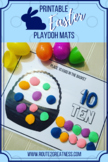 Easter Play Doh Mats Numbers