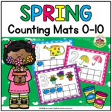 Spring Play Dough Counting Mats and Frames 0-10