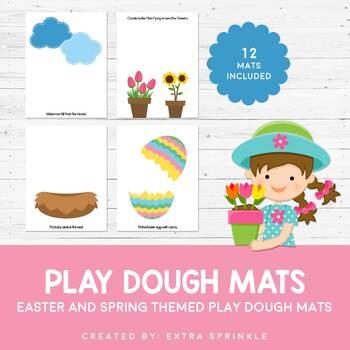 Easter Play Dough Mats Set of 12