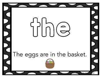 Easter Play Dough Sight Word/Loose Parts Mat