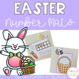 Easter Playdough Number Mats