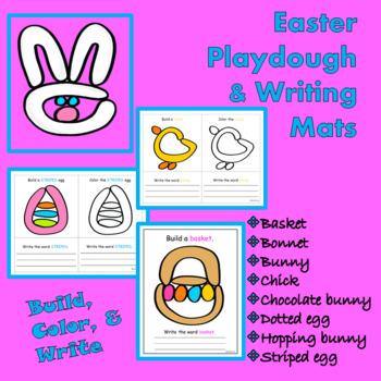Fine Motor Easter Playdough & Writing Mats