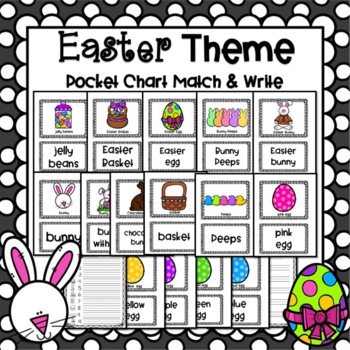 Easter Pocket Chart Pictures and Word Cards