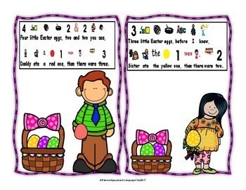 Easter Poem Interactive 5 Little Easter Eggs, differentiated, interactive