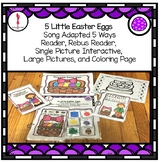 Easter theme book Five Little Easter Eggs: Interactive Book, Color recognition
