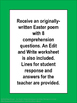 Easter Poem, Comprehension, and Writing Practice