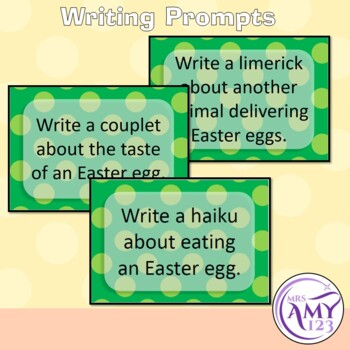 Easter Poetry Writing- Prompts, Templates and Rubric!