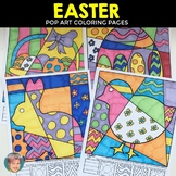 "Easter Activities - ""Pop Art"" Interactive Coloring Sheets"