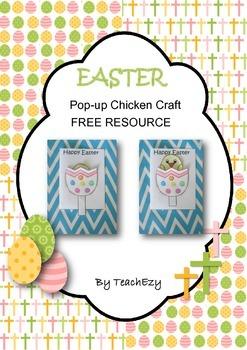 Easter Pop-Up Chicken Card