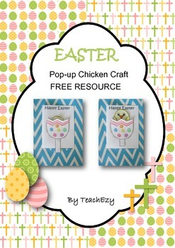 Easter Pop-Up Chicken Card